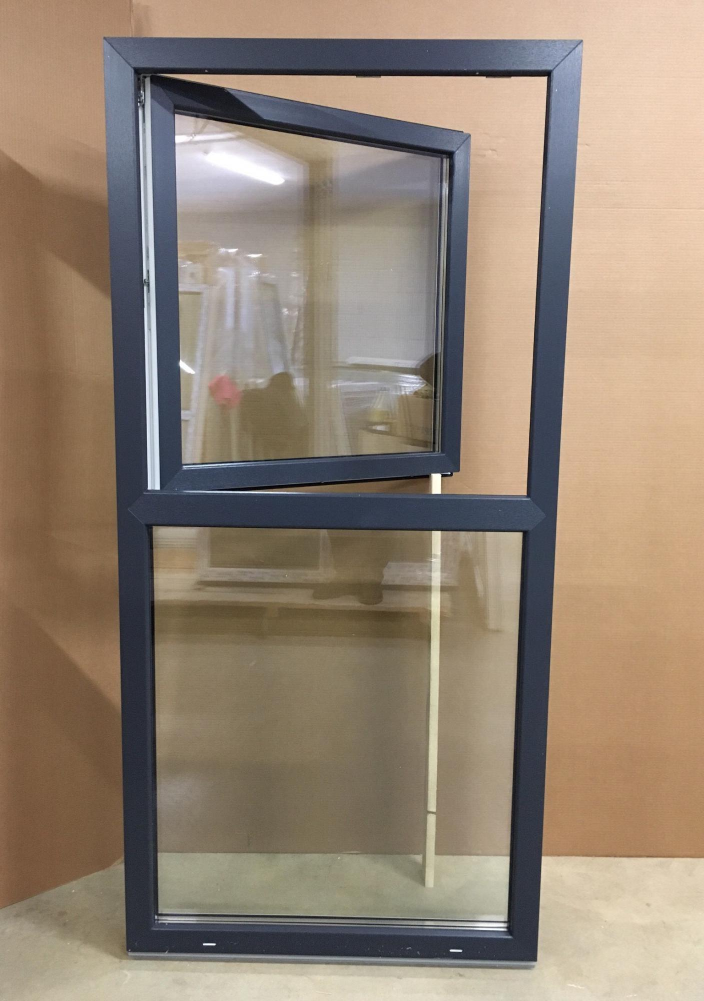 Pvc Window With 1 Horizontal Partition Upper Part Is