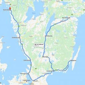 NEW free delivery MAP Southern Sweden (1 time per month)