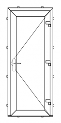 PVC outward opening balcony door (STRONG TYPE - RECOMMENDED)