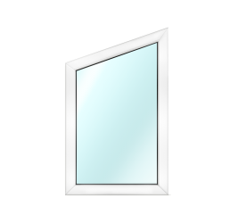 Fixed PVC trapezium window